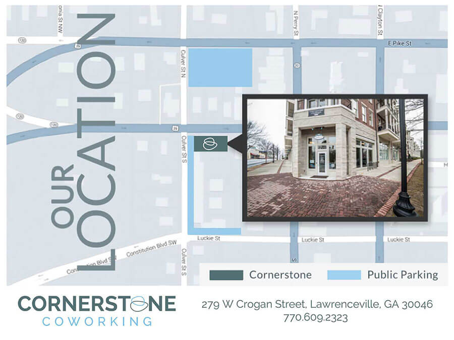 Cornerstone Coworking parking map